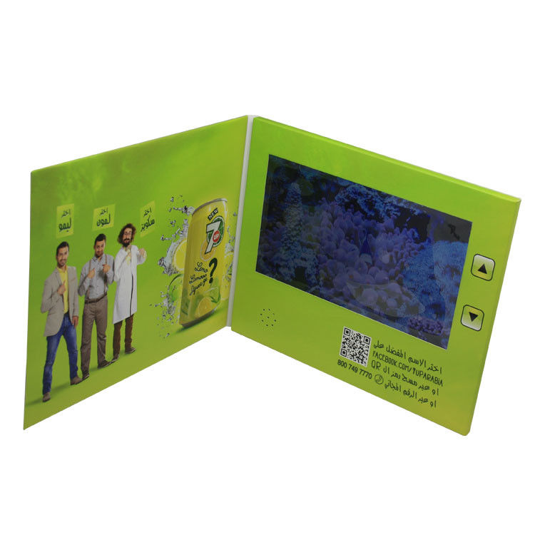 128MB - 8G Memory LCD Video Card , Video Brochure Card With Printed Paper Cover