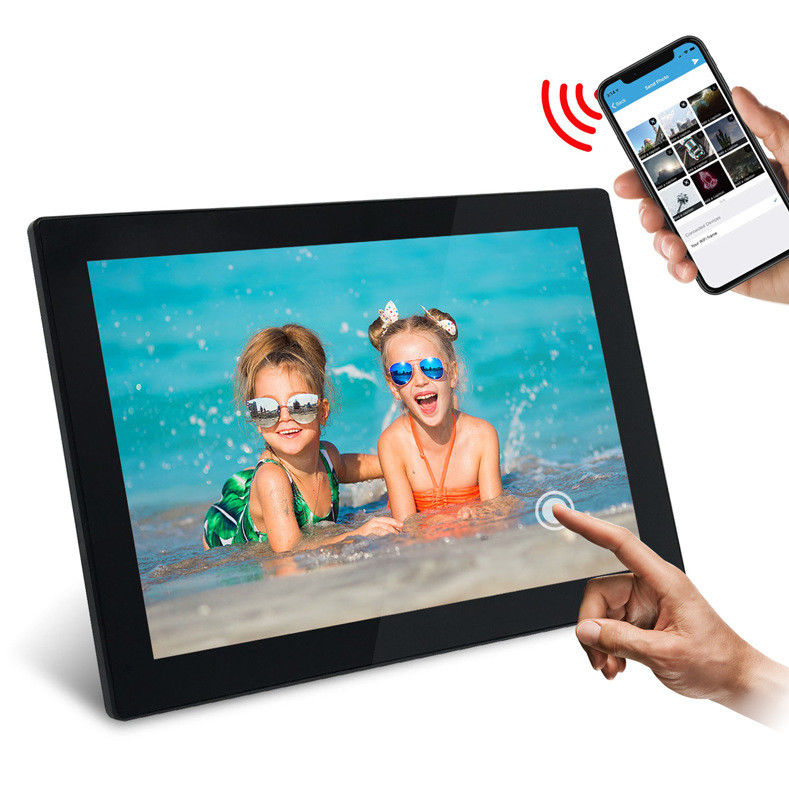 1280*800 Resolution WIFI Digital Photo Frame 10 Inch Cloud WiFi For Families