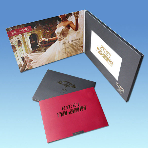 High End Business Gift 4.3 Inch Christmas Video Greeting Cards With Artwork Printing